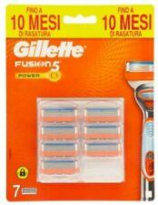 Gillette Fusion5 Power lame di ricambio per rasoio 7 pezzi. Originale. Nuove.