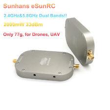 Sunhans eSunRC SHRC5824G2WP 2.4GHz&5.8GHz Dual Band 2000mW 33dBm WiFi Booster