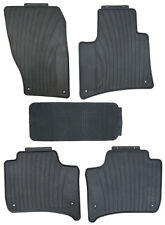 Black Rubber All Weather Floor Mats for 2011 Up Porsche Cayenne Custom Fitment