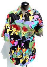 Vtg Mens Expressions Worldwide Western Cowboy Ranchwear Aztec Collar Shirt