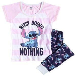 Lilo and Stitch Pyjamas Ladies Size 8-10 12-14 16-18 20-22 Official Disney PJs