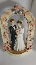 Giovanni Giftware Collection Cake topper Bride and Groom under the  Pink Arch