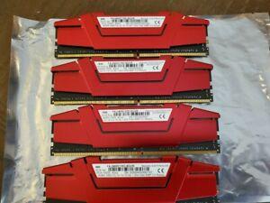 G. SKILL Ripjaws V Series 16GB (4GBx4) PC4-19200 (DDR4-2400) Memory Ram