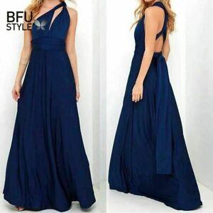 Sexy Long Dress Bridesmaid Formal Multi Way Wrap Convertible Infinity Maxi Dress