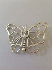 Sterling Silver Silhouette Butterfly Brooche/Pin