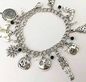Nightmare Before Christmas Charm Bracelet Silver Charms Disney