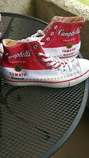 Converse by Andy Warhol CT Hi Campbells Tomato Soup size 10