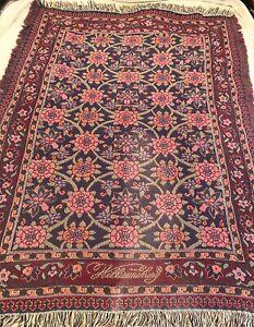 Williamsburg Vintage Floral Throw Blanket Goodwin Weavers Fringed