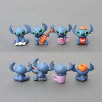 4pcs/set Lilo&Stitch Mini Figure Toys Kids Gift Cake Toppers Home Decoration New