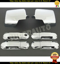 For 2006-2010 FORD EXPLORER+SPORT TRAC+MOUNTAINEER Chrome Mirror+4 Door Handles