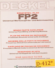 Deckel FP2, Universal Milling and Boring, Spare Parts Manual 1981