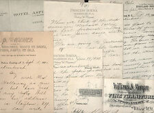 seven signed letters etc to Henry M. Quackenbush rifle 19th century inventor lot