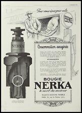 PUBLICITE  AUTOMOBILE ACCESSOIRES AUTO  BOUGIE NERKA STATION SERVICE   AD  1925