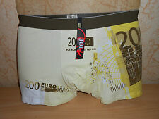"boxer imprimé ""billet 200 euros"" taille XL - neuf"