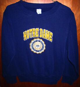 NOTRE DAME University vtg youth sweatshirt Fighting Irish size 10-12 school seal