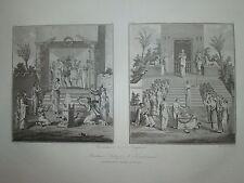 Grande Gravure PEINTURE HERCULANUM PORTICI NAPLES NAPOLI ITALIE SAINT NON 1829 A