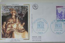 ENVELOPPE PREMIER JOUR SOIE 1982 UNESCO VIETNAM