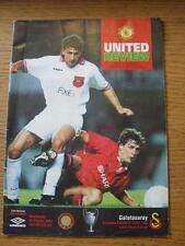 20/10/1993 Manchester United v Galatasaray [European Cup] (folded).