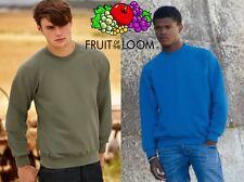Fruit of The Loom Raglan Sweatshirt - Felpa a Manica lunga da Uomo Rosso (burgu