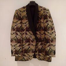 RICHARD JAMES Mens Green/Black Army Camouflage Dress Blazer Jacket UK XL