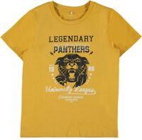 NAME IT Jungen T-Shirt NKMLanter gelb Größe 116 bis 146/152