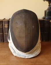 Antique Vintage French Fencing Mask. Fencers Guard Helmet Headpiece. Home Decor