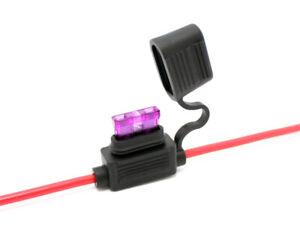 1x KFZ-Sicherungshalter ATC ATO IP56 WASSERDICHT 4mm² max. 30A Flachsicherung