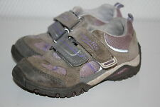 SUPERFIT SympaTex Sneaker Kinderschuhe echt Leder Halbschuhe Gr. 26 grau-lila