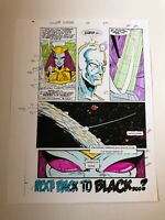 SILVER SURFER #24 ART original color guide 1989 BACK TO BLACK last page RON LIM