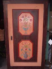 Wunderschöner alter Massivholz Bauernschrank handbemalt