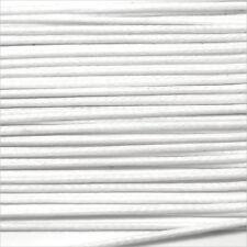 Cordon Coton Ciré 1mm – 4 Mètres Blanc pour Colliers et Bracelets de perles