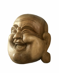Balinese Art Laughing Buddha Face Mask Wall hanging | Home Decor | Table Top