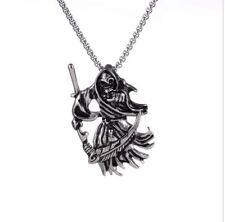Anhänger Sensenmann Reaper Edelstahl mit Kugelkette