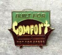 "Vintage ""BUILT FOR COMFORT, NOT FOR SPEED"" Lapel Pin, Metal & Enamel lot of 10"