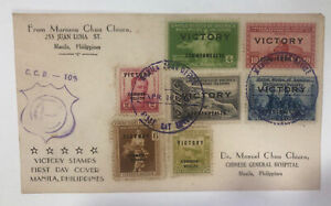 Victory Cover w/Military Censor Marked 1945 Philippines