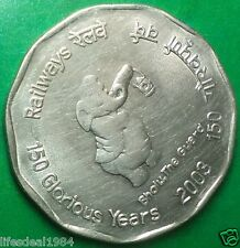 2003 2 rupees  BHOLU THE GUARD 150 YEARS OF Indian Railway commemorative coin