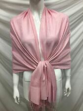 PAISLEY PASHMINA CASHMERE SCARF SHAWL WRAP STOLE BABY PINK ALL SEASON WEAR