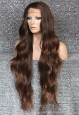 Human Hair Blend Full Lace Front Wig Auburn mix wavy Long HEAT OK WEAJ 1b-30