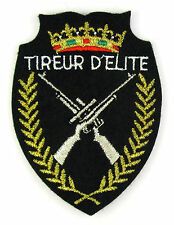 Ecusson brodé militaire ♦ (patch/crest embroidered) ♦ TIREUR D' ELITE