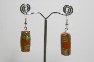 Glass bead earrings, 6 different design bead,lightweight, handmade
