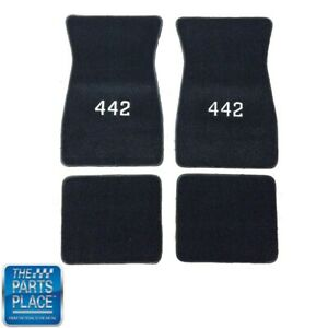 1968-72 Cutlass / 442 Carpeted Floor Mats With Embroidered 442 - 4 Piece Set