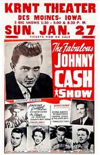 Johnny Cash - Grandpa Jones - 1957 - KRNT Theater - Des Moines - Concert Poster