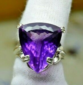 BIG 18.73CT 100% NATURAL LARGE AMETHYST BOLIVIA 925 STERLING SILVER SOLID FREE