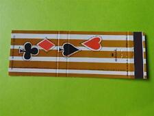 HALLLMARK GREETING CARD PLAYING CARDS SYMBOL DIAMOND SPADES VINTAGE MATCHBOOK