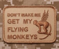 GET MY FLYING MONKEYS TACTICAL USA ARMY DESERT VELCRO® BRAND FASTENER PATCH