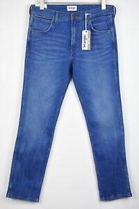 WRANGLER GREENSBORO Men W32/L32 Regular Straight Soxt Luxe Blue Jeans 18066