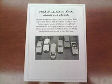 1963 Studebaker full-line factory cost/dealer sticker pricing for car/options-63