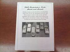 1963 Studebaker full-line factory cost/dealer sticker pricing for car/options-63