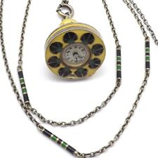 Art Deco Walter Lampl Sterling Guilloché Blancpain Pendant Bell Watch Necklace