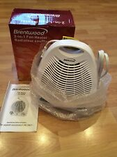 New Brentwood Portable Compact Space Heater Fan White & Cool Or Warm Air, 2 In 1